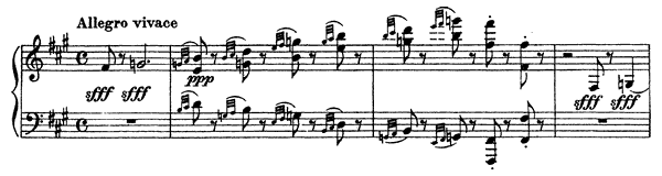 Polichinelle Op. 3 No. 4  by Rachmaninoff piano sheet music