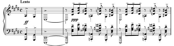 piano sheet music of Prelude