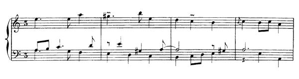 First Sarabande  No. 6  in A Minor by Rameau piano sheet music