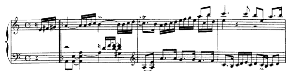 Allemande  No. 2  in A Minor by Rameau piano sheet music
