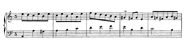 Minuet  No. 10  in A Minor by Rameau piano sheet music