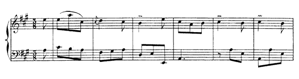 Venitienne  No. 8  in A Major by Rameau piano sheet music