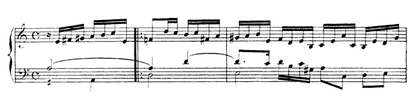 Allemande  No. 1  in A Minor by Rameau piano sheet music