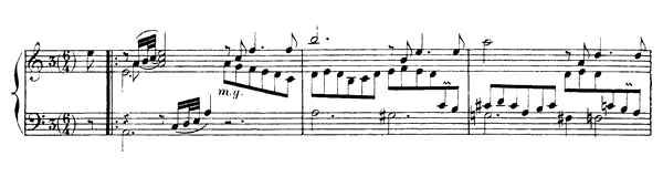Courante  No. 2  in A Minor by Rameau piano sheet music