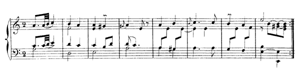 Gavotte with Six Variations  No. 7  in A Minor by Rameau piano sheet music