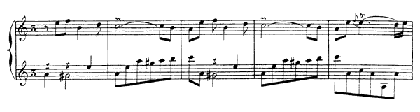 The Three hands  No. 4  in A Minor by Rameau piano sheet music