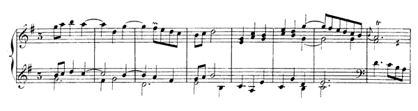 Minuet  No. 10  in G Major by Rameau piano sheet music