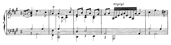 Sarabande  No. 3  in A Major by Rameau piano sheet music