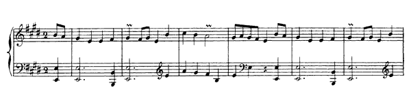 Second Rigaudon  No. 8  in E Major by Rameau piano sheet music