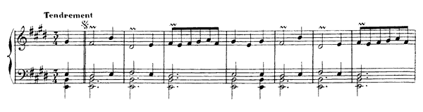 Musette  No. 10  in E Major by Rameau piano sheet music