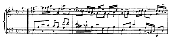 Allemande  No. 2  in E Minor by Rameau piano sheet music