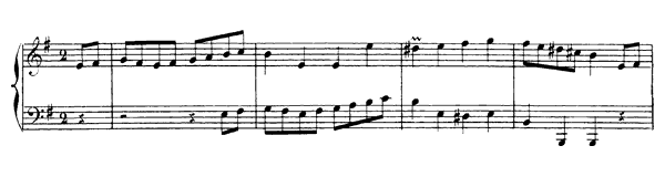 First Rigaudon  No. 7  in E Minor by Rameau piano sheet music