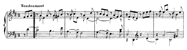 The Sighs  No. 17  in D Major by Rameau piano sheet music