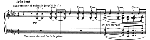 Le Gibet  No. 2  in E-flat Minor by Ravel piano sheet music