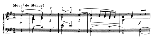 Minuet on the Name of Haydn   in G Major by Ravel piano sheet music
