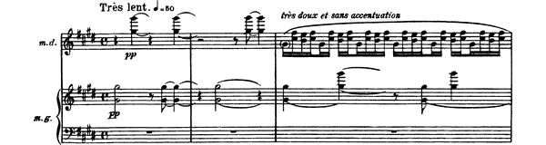 La Vallée des Cloches  No. 5  by Ravel piano sheet music