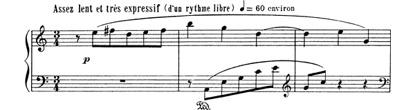 Prelude   by Ravel piano sheet music
