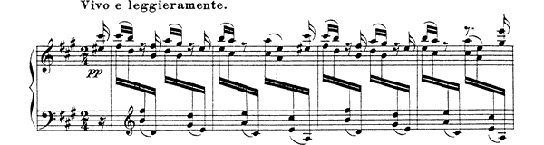 Scherzino Op. 11 No. 3  in A Major by Rimsky-Korsakov piano sheet music
