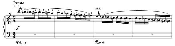 Flight of the Bumble Bee (arr by Rachmaninoff)   in A Minor by Rimsky-Korsakov piano sheet music