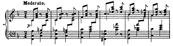 Melody Op. 3 No. 1  in F Major by Rubinstein piano sheet music