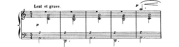 Gymnopedie  No. 3  in A Minor by Satie piano sheet music