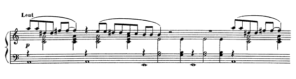 Gnossienne  No. 3  in A Minor by Satie piano sheet music