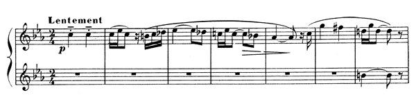 Piece I  No. 3  by Satie piano sheet music