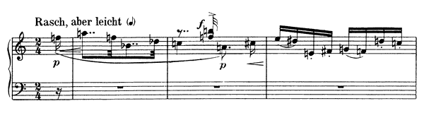 Piano Piece Op. 19 No. 4  by Schoenberg piano sheet music
