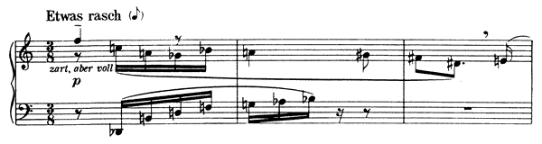 Piano Piece Op. 19 No. 5  by Schoenberg piano sheet music