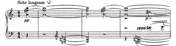 Piano Piece Op. 19 No. 6  by Schoenberg piano sheet music