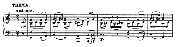 Ten Variations (D. 156)   in F Major by Schubert piano sheet music