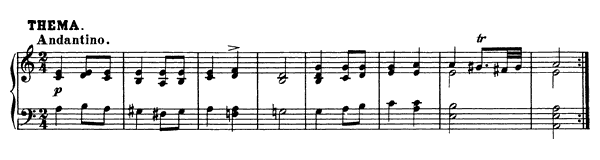 13 Variations on a Theme by Hüttenbrenner (D. 576)   in A Minor by Schubert piano sheet music