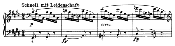 Rastlöse Liebe - solo piano version Op. 5 No. 1  in E Major by Schubert piano sheet music