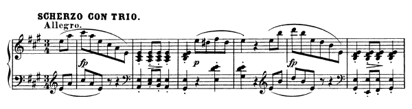 Piano Piece  No. 4  in A Major by Schubert piano sheet music