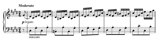 Moment Musical Op. 94 No. 4 D. 780  in C-sharp Minor by Schubert piano sheet music