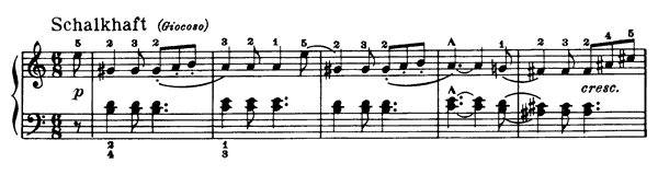 Sicilian Op. 68 No. 11  in A Minor by Schumann piano sheet music
