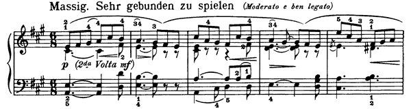 Roundelay Op. 68 No. 22  in A Major by Schumann piano sheet music