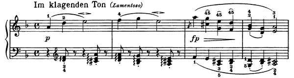Popular Song Op. 68 No. 9  in D Minor by Schumann piano sheet music