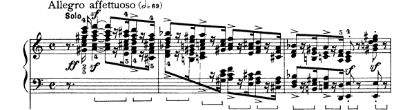 piano sheet music of Piano Concerto