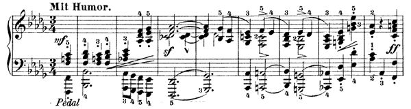 Grillen Op. 12 No. 4  in D-flat Major by Schumann piano sheet music