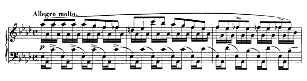 Caprice Op. 10 No. 1  in A-flat Major by Schumann piano sheet music