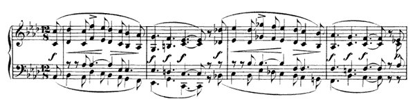 Larghetto Op. 124 No. 13  in F Minor by Schumann piano sheet music