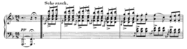 Vision Op. 124 No. 14  in F Major by Schumann piano sheet music