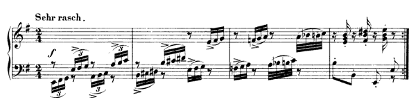 Phantasietanz Op. 124 No. 5  in E Minor by Schumann piano sheet music