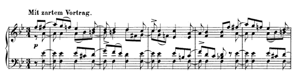 Impromptu Op. 124 No. 9  in B-flat Major by Schumann piano sheet music