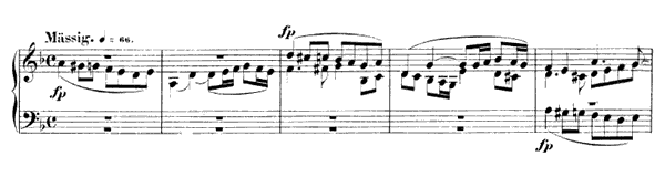 Piece in Fughetta Form Op. 126 No. 2  in D Minor by Schumann piano sheet music