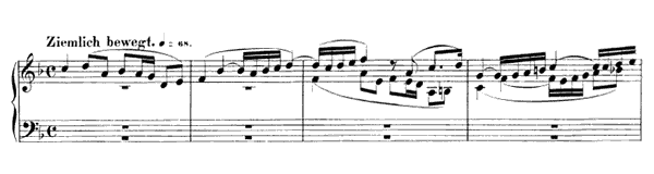 Piece in Fughetta Form Op. 126 No. 3  in F Major by Schumann piano sheet music