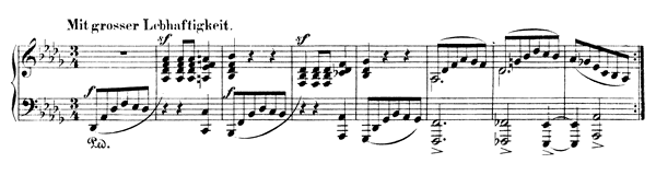 Night-Vision 3 Op. 23 No. 3  in D-flat Major by Schumann piano sheet music