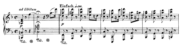 Night-Vision 4 Op. 23 No. 4  in F Major by Schumann piano sheet music