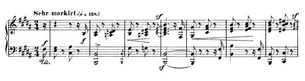 Romance Op. 28 No. 3  in B Major by Schumann piano sheet music